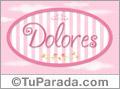Dolores - Nombre decorativo