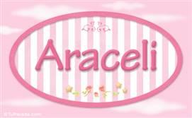 Araceli - Nombre decorativo