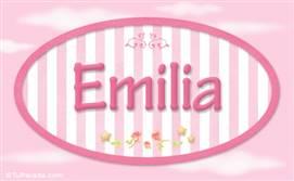Emilia - Nombre decorativo