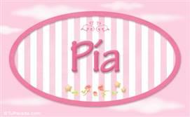 Pia - Nombre decorativo