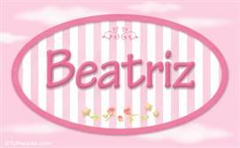 Beatriz - Nombre decorativo