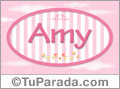 Amy - Nombre decorativo