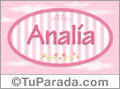 Analia - Nombre decorativo