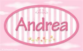 Andrea - Nombre decorativo