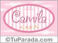 Camila - Nombre decorativo
