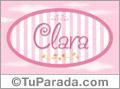 Clara - Nombre decorativo