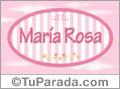 Maria Rosa - Nombre decorativo
