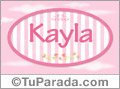 Kayla - Nombre decorativo