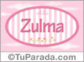 Zulma - Nombre decorativo