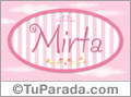 Mirta - Nombre decorativo
