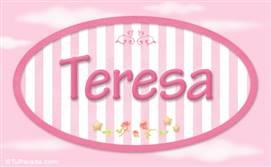 Teresa - Nombre decorativo