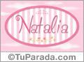 Natalia - Nombre decorativo