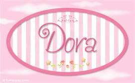 Dora - Nombre decorativo