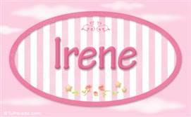 Irene - Nombre decorativo