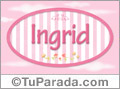 Ingrid - Nombre decorativo