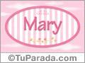 Mary - Nombre decorativo