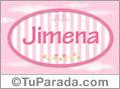 Jimena - Nombre decorativo