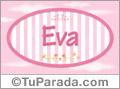 Eva - Nombre decorativo