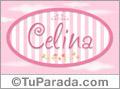 Celina - Nombre decorativo