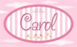 Carol - Nombre decorativo