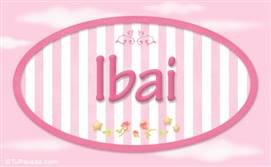 Ibai -  Nombre decorativo