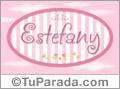 Estefany - Nombre decorativo