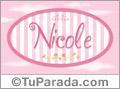 Nicole - Nombre decorativo