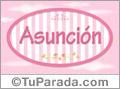 Asunción - Nombre decorativo