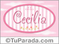 Cecilia - Nombre decorativo