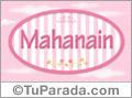 Mahanain - Nombre decorativo