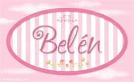 Belén - Nombre decorativo