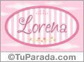 Lorena - Nombre decorativo