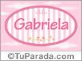 Gabriela - Nombre decorativo