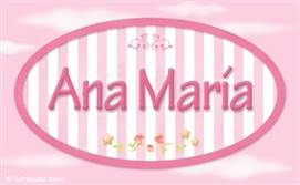 Ana María, nombre para niñas