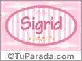 Sigrid - Nombre decorativo