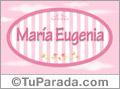 María Eugenia - Nombre decorativo