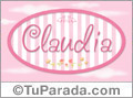 Claudia - Nombre decorativo