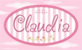 Claudia - Nombre decorativo