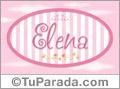 Elena - Nombre decorativo