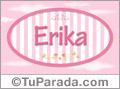 Erika - Nombre decorativo