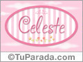 Celeste - Nombre decorativo