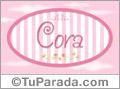Cora - Nombre decorativo