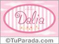 Dalia - Nombre decorativo