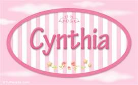 Cynthia - Nombre decorativo