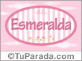 Esmeralda - Nombre decorativo