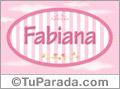 Fabiana - Nombre decorativo