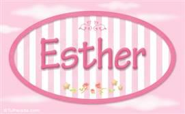Esther, nombre para niñas