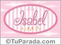Nombre Nombre Isabel de bebé, para imprimir