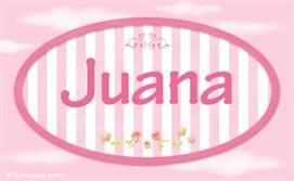 Juana, nombre para niñas