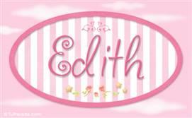 Edith, nombre para niñas